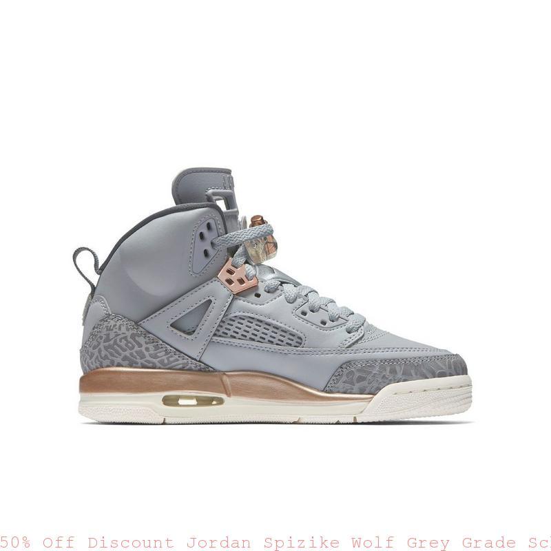 5b4d0a0b9114 50% Off Discount Jordan Spizike Wolf Grey Grade School Girls Shoe ...