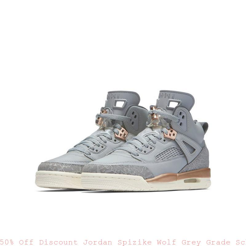 6bd9c9991b7832 50% Off Discount Jordan Spizike Wolf Grey Grade School Girls Shoe ...