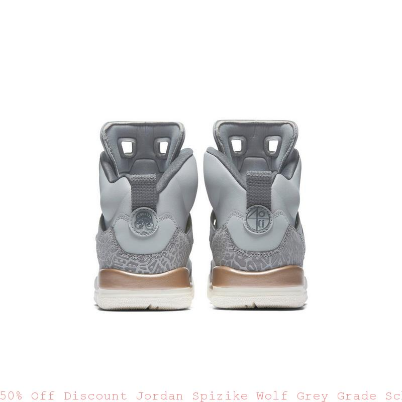 big sale 188b2 8caa8 50% Off Discount Jordan Spizike Wolf Grey Grade School Girls ...