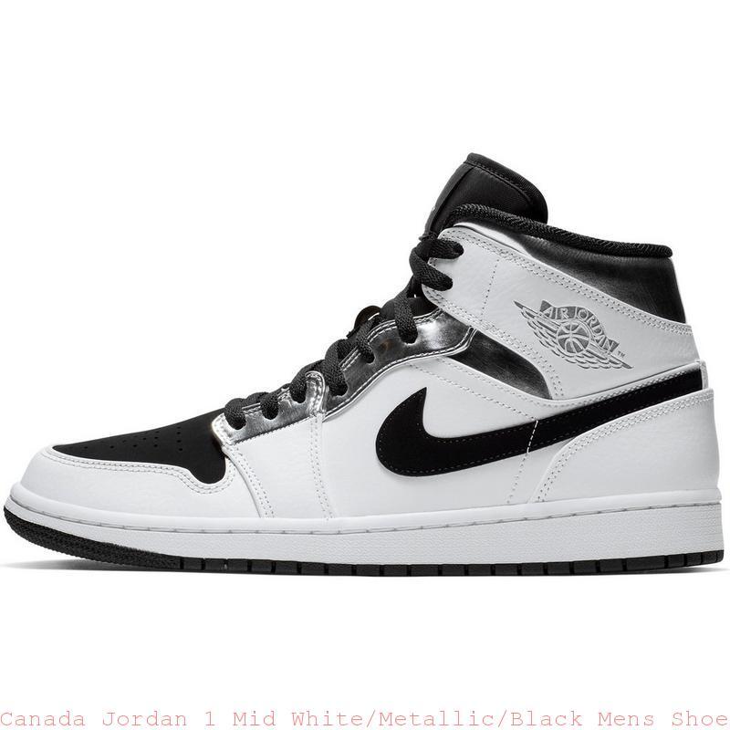 quality design 5277e 49c8f Canada Jordan 1 Mid White/Metallic/Black Mens Shoe - cheap kid jordans for  sale - Q0405