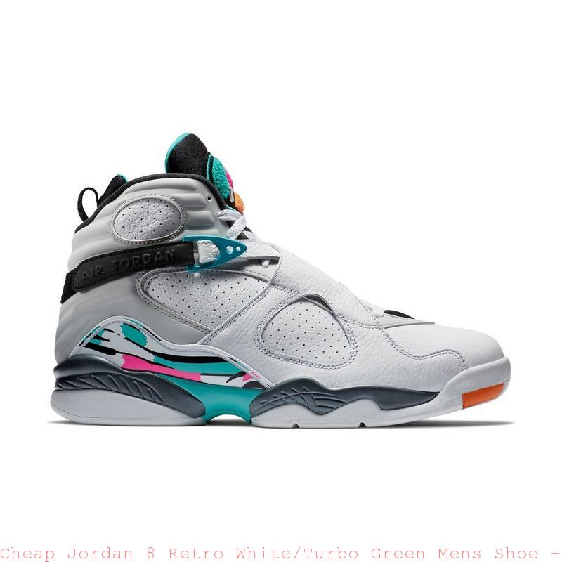 huge discount afc77 c0af1 Cheap Jordan 8 Retro White Turbo Green Mens Shoe – cheapest air jordan shoes  ...