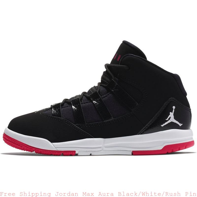 best website fedd7 71724 Free Shipping Jordan Max Aura Black/White/Rush Pink Preschool Kids Shoe -  air max shoes girl - S0238